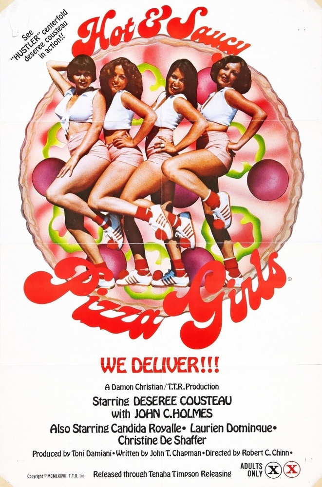 Hot & Saucy Pizza Girls (1978) - original poster - vintagepornfun.com