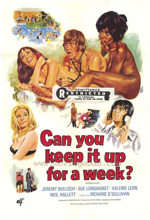 Can You Keep it up for a Week (1975) - original poster - vintagepornfun.com