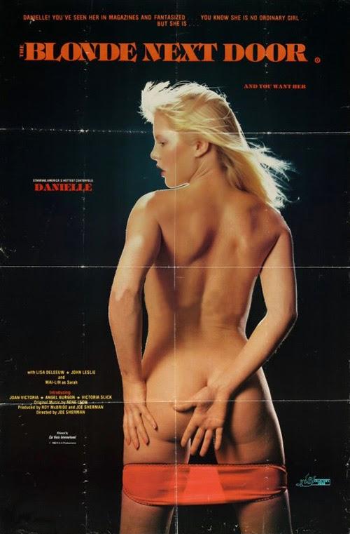 The Blonde Next Door (1982) - original poster - vintagepornfun.com