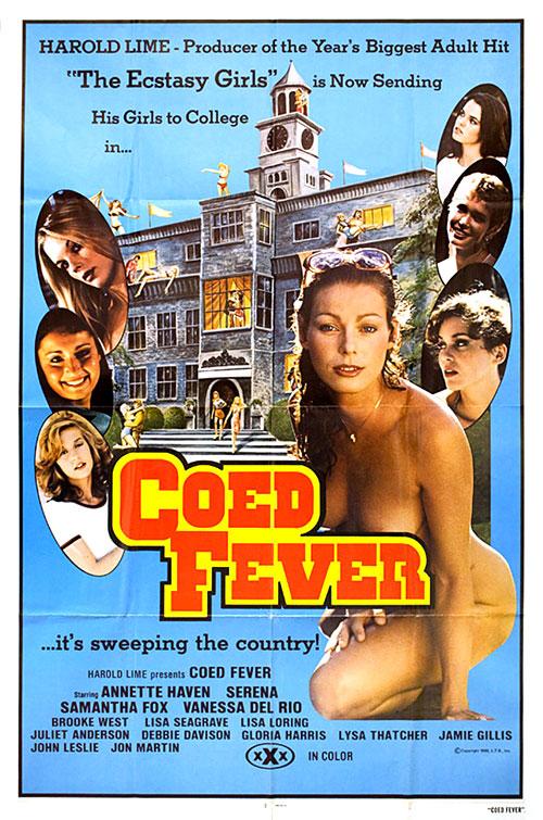 Co-Ed Fever (1980) - original poster - vintagepornfun.com