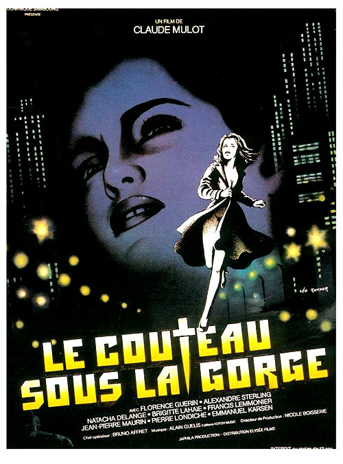 Le Couteau Sous la Gorge : Knife Under the Throat (1986) - original poster - vintagepornfun.com