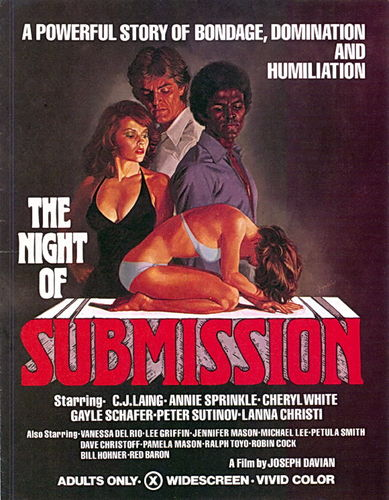 The Night Of Submission (1976)- original poster - vintagepornfun.com