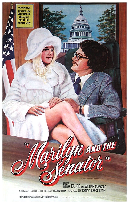 Marilyn and the Senator (1975) - original poster - vintagepornfun.com