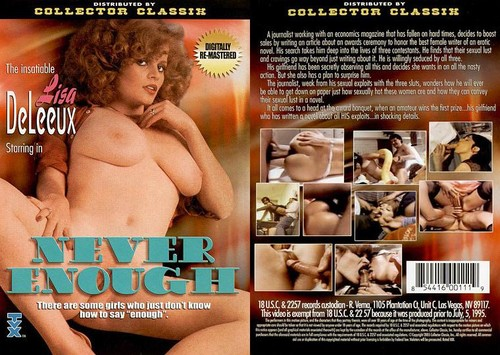 Fantasmes Très Spéciaux : Never Enough (1982) - Original Poster - vintagepornfun.com