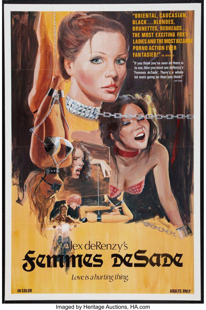Femmes De Sade (1976) - Original Poster - vintagepornfun.com