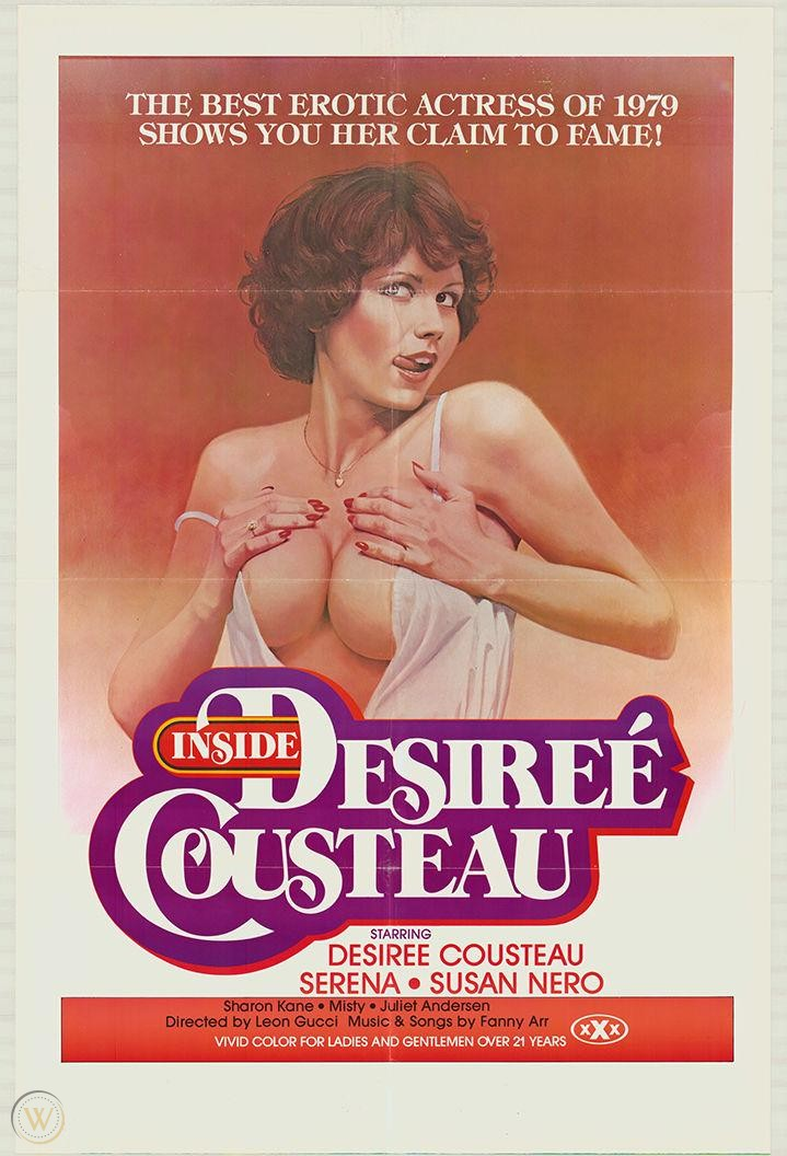Inside Désirée Cousteau (1979) - Original Poster - vintagepornfun.com