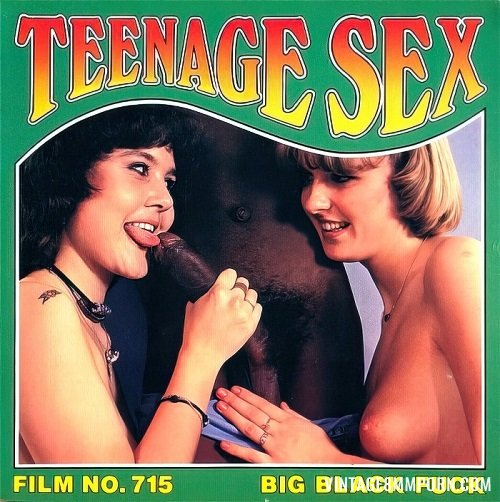 Color Climax – Teenage Sex 715 – Big Black Fuck - Original Poster - vintagepornfun.com
