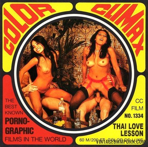 Color Climax: Color Climax Film 1334: Thai Love Lesson - Original Poster - vintagepornfun.com
