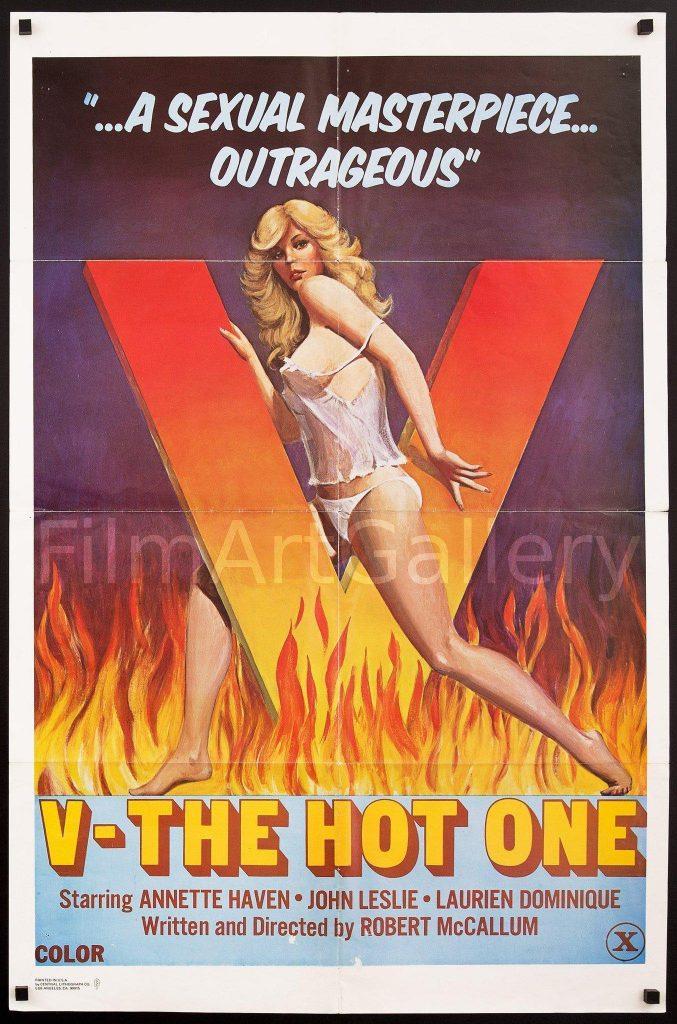 'V': The Hot One (1978) - Original Poster - vintagepornfun.com